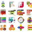 Set of modern infographic design templates — Stock Vector #30811215