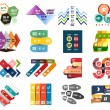 Set of modern infographic design templates — Stock Vector