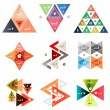Set of abstract triangle modern templates — Stock Vector