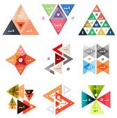 Reihe von abstrakten dreieck moderne vorlagen — Stockvektor