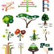 Stock Vector: Vector set of tree infographic design templates