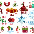 Christmas infographic templates and elements set — Stock Vector