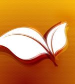 Naranja hojas otoñales wave diseño — Vector de stock