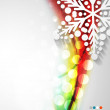 Abstract Christmas wave snowflake background — Stock Vector