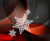 Abstact navidad ola copo de nieve — Vector de stock