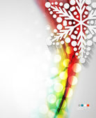 Abstract Christmas wave snowflake background — 图库矢量图片