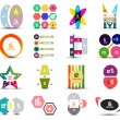 Set of infographic templates shapes elements — Stock Vector