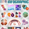 Big set of infographic banners and backgrounds — Stock Vector
