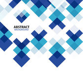 Fond abstrait géométrique carré bleu — Vecteur