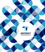 Blue circles geometrical abstract background — Stok Vektör