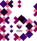 Patrón geométrico abstracto plazas púrpura — Vector de stock