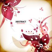 Autumn vintage floral background — Stock Vector