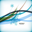 Blue Christmas snowflakes wave abstract background — ベクター素材ストック