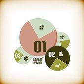 Modelo de infográfico de gráfico redondo — Vetor de Stock