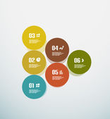 Abstract circles infographic colorful template — Vector de stock