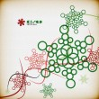 Vintage snowflakes minimal abstract background — 图库矢量图片