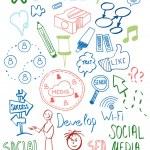 Colorful web doodles set — Stock Vector