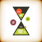 Modern sand clock infographics options banner — Stock Vector