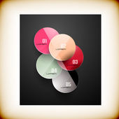 Abstract circles infographic colorful template — Stockvektor