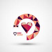 Mosaic heart vector design — Stock Vector