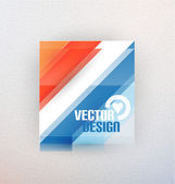 Vector 3d glass shape for business template — Stock Vector