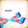 Stock Vector: Abstract colorful wave shapes background