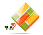 Vector 3d glass shape for business template — Stok Vektör