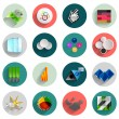 Infographic inside colorful circles. Flat icon set — Stock Vector #34380955