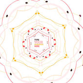Abstract floral snowflake Christmas design — Stock Vector