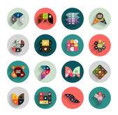 Infographik in bunten Kreisen. flache Icon-set — Stockvektor