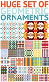 Huge set of abstract geometric ornaments / patterns — Stock Vector