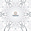 Abstract Christmas snowflake floral design — Stock Vector