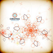 Vector vintage christmas snowflake card — Stockvektor