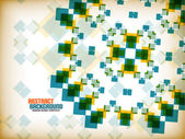 Vector geometric vintage retro pattern background — ストックベクタ