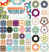 Set of vintage geometric patterns for backgrounds — Stock Vector