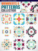 Abstract complex geometric patterns set — Stock Vector