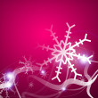 Christmas lightning abstraction snowflakes waves — Stock Vector