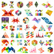 Set of infographic geometric templates - triangles — Stock Vector #35208075