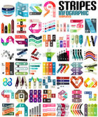 Big set of infographic modern templates - lines — Stock Vector