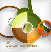 Modern circle geometric shape background — Stock Vector