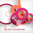 Modern circle geometric shape background — Vector de stock #35350207
