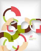 Forme geometriche anelli astratto — Vettoriale Stock