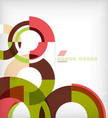 Rings geometric shapes abstract background — Cтоковый вектор