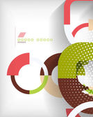 Rings geometric shapes abstract background — Vector de stock