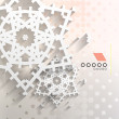 Paper snowflakes Christmas geometric background — Stock vektor