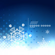 Blue magic sky and snowflakes winter background — Image vectorielle