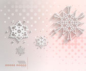 Paper snowflakes Christmas geometric background — Stock Vector
