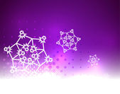 Purple vector snow Christmas background — Stock Vector