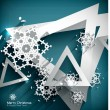 Holiday Paper 3d Snowflakes background — Stock Vector