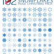 102 abstract Christmas snowflakes — Stock Vector